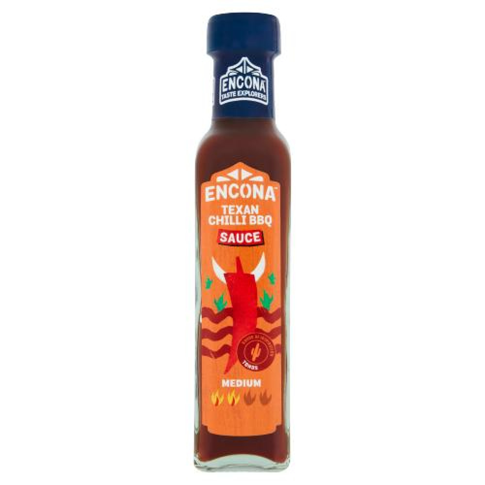 Sos ardei iute Encona Texan Chilli BBQ 142ml